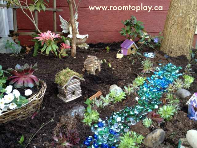 Fairygarden. We Found These Adorable Gnomes At The Dollar Store Too! The  U201criveru201d Is Lined With Dollar Store Jewels And Stones, While The Miniature  ...